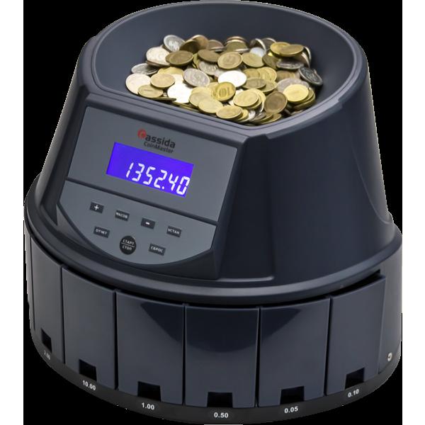 Сортировщик монет Cassida CoinMaster со светодиодным экраном